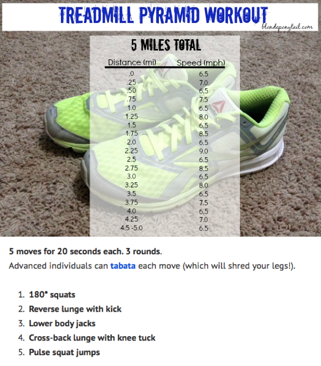 An example of the cardio I'll do with toning exercises I do before abs. Courtesy of blondponytail.com