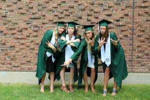 Myself with my closest friends (minus Steph and David) graduating